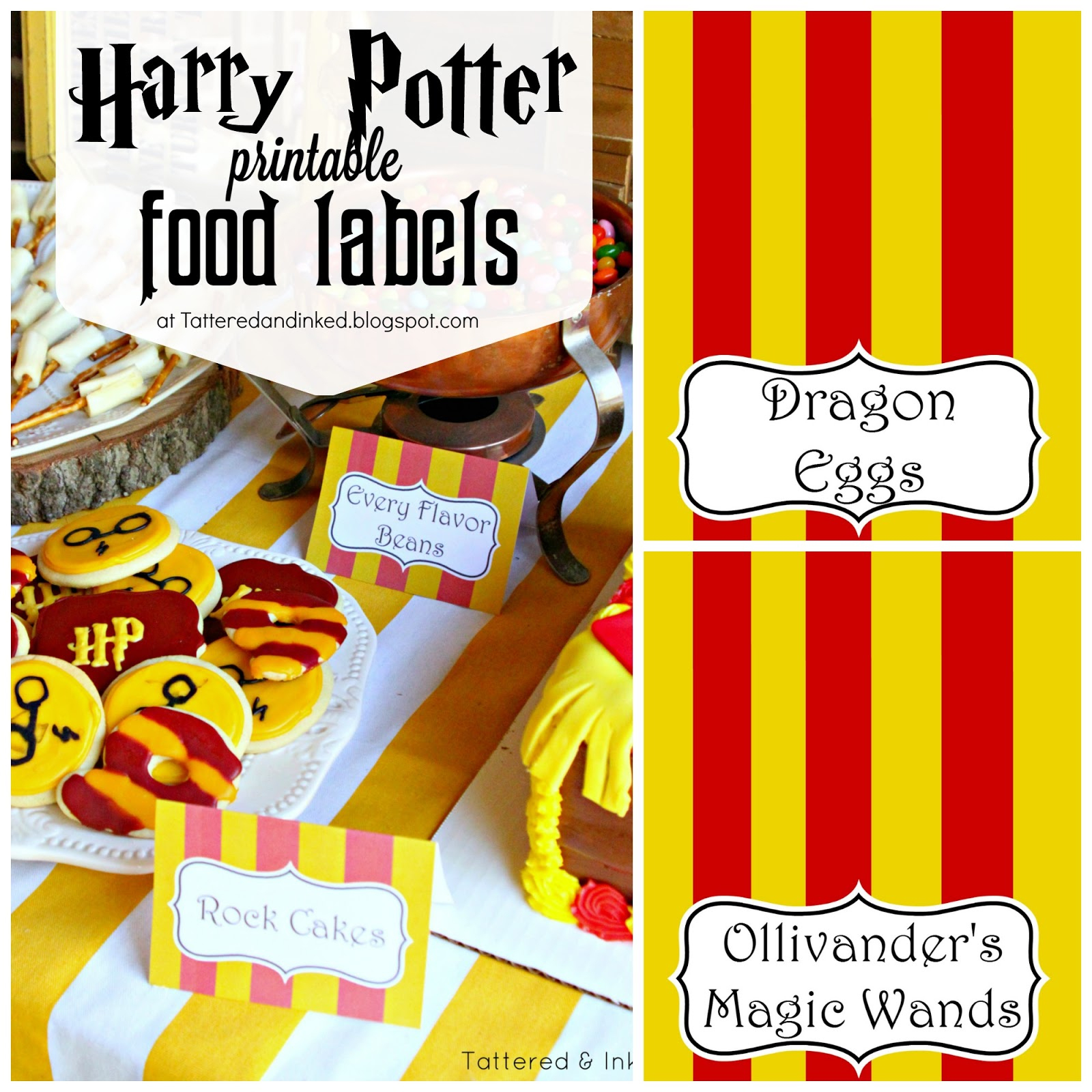 Tattered And Inked: Harry Potter Party Free Printables And Source List!! - Free Harry Potter Printable Signs
