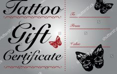 Tattoo Gift Certificate Template – Reeviewer.co – Free Printable Tattoo Gift Certificates