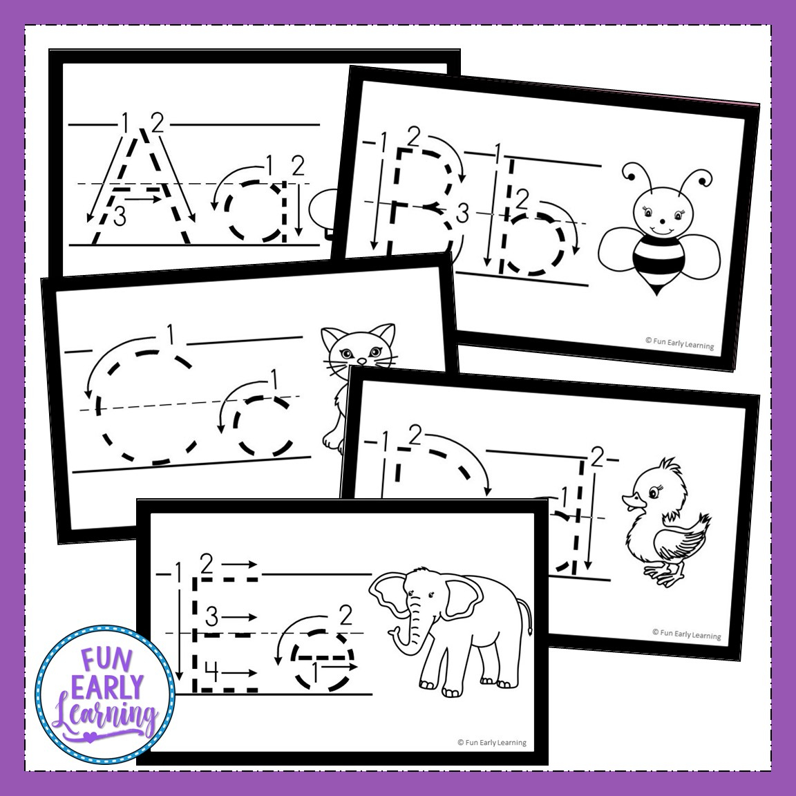 Teach Letters And Writing With Our Free Alphabet Animal Tracing Cards - Free Printable Alphabet Cards With Pictures