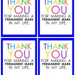 Teacher Appreciation Marker Gift Tag (Free Printable   Free Printable Tags For Teacher Appreciation