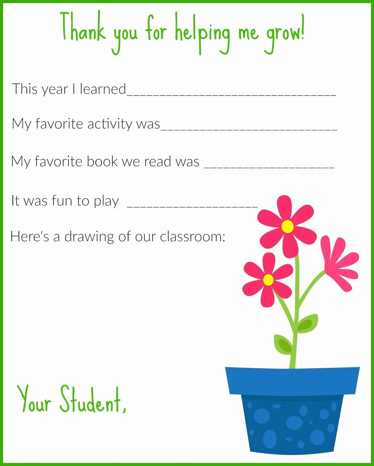 Teacher Letterhead Template Free Printable Thank You Letter Template - Free Printable Thank You Cards For Teachers