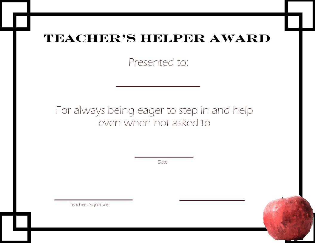 Teacher-School-Printable Student Awards - Free Printable Certificates For Teachers