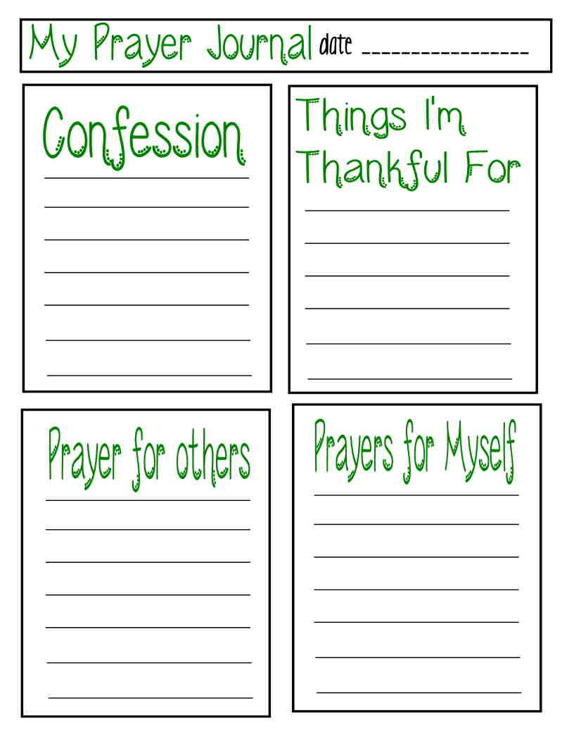 Teaching Children About Prayer With Free Prayer Journal Printable - Free Printable Prayer Journal