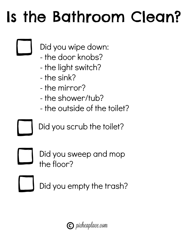 Teaching Kids To Clean The Bathroom [+ Free Printable Bathroom - Free Printable Mirrored Numbers