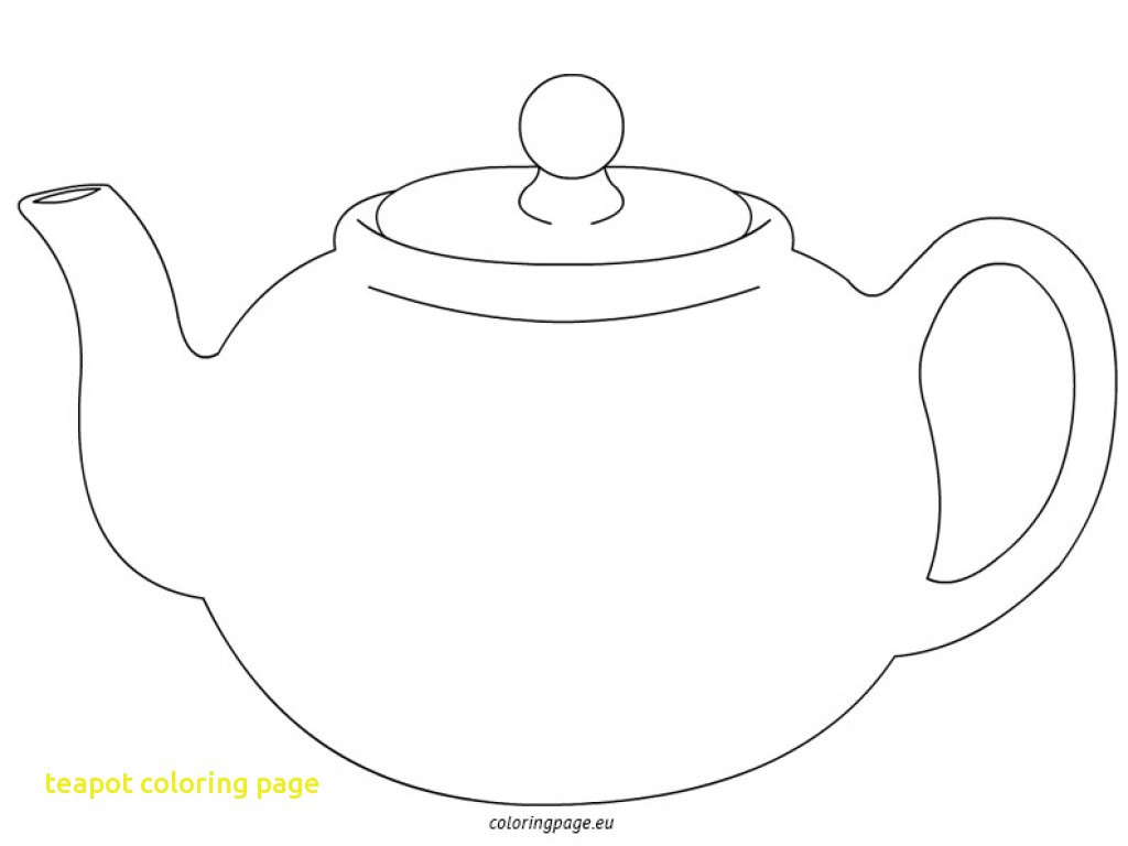 Teapot Coloring Page With 18757 Free Printable Throughout   Fiscalreform - Free Teapot Printable