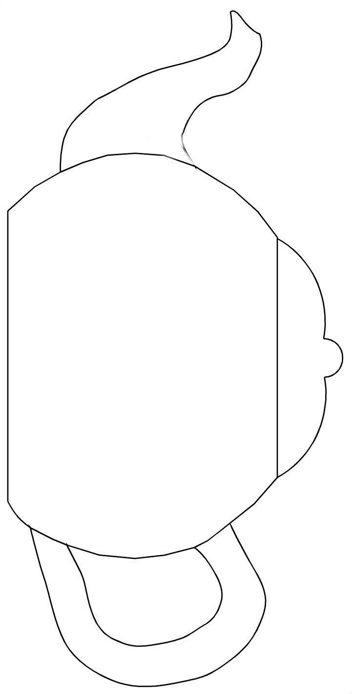 Teapot Templates Free Printable   Cut The Teapot, Handle And Spout - Free Teapot Printable