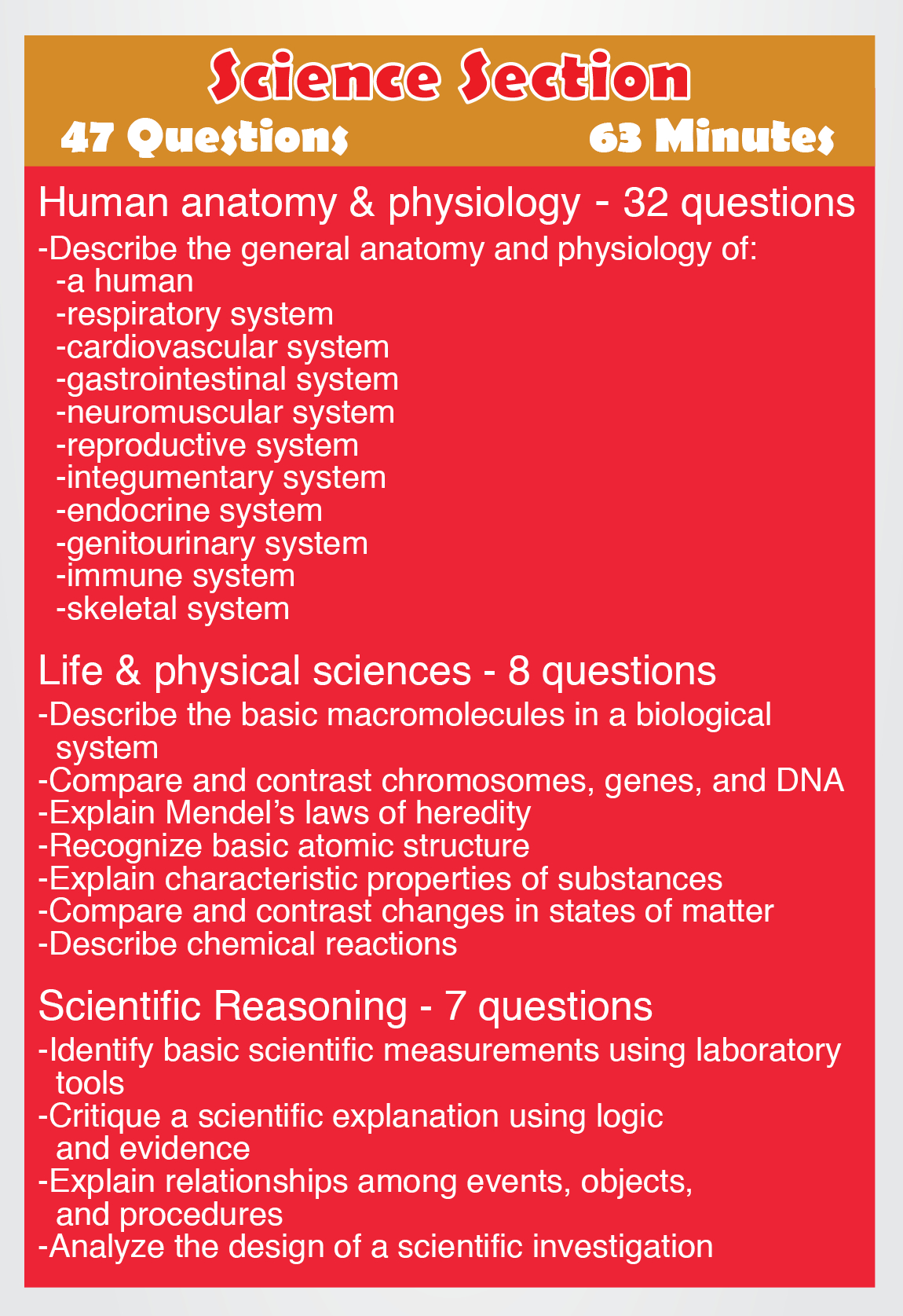 Teas Science - Content Areas Such As The Following: Human Anatomy - Free Printable Teas Test Study Guide