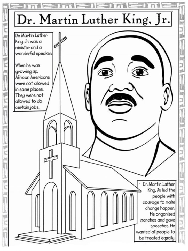 Free Printable Martin Luther King Jr Worksheets For Kindergarten