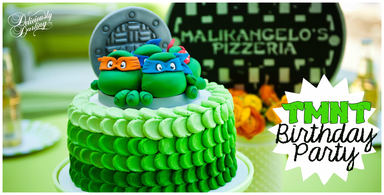 Teenage Mutant Ninja Turtle Inspired Birthday Party - Deliciously - Free Printable Teenage Mutant Ninja Turtle Cupcake Toppers
