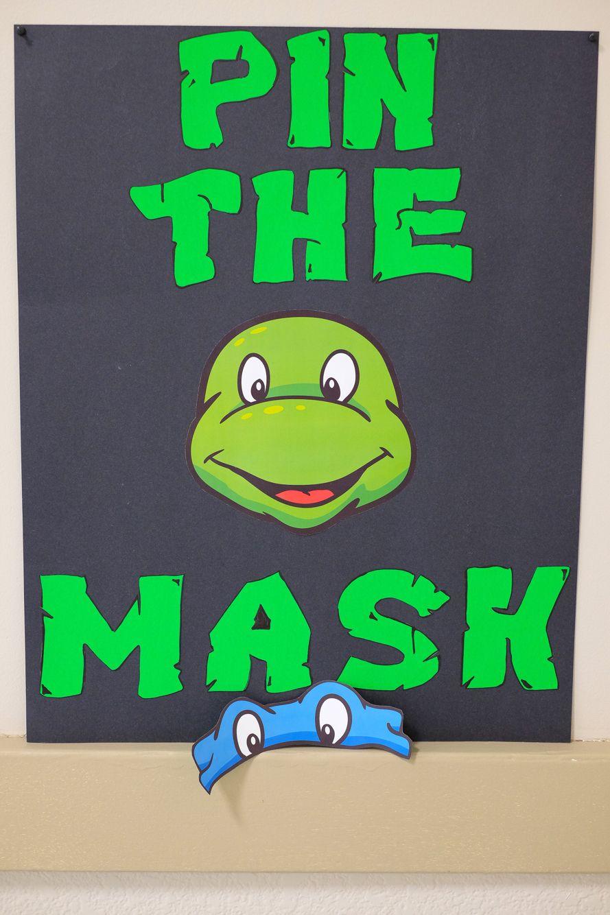 Teenage Mutant Ninja Turtle Party|Pin The Mask|Tmnt The Letters On - Teenage Mutant Ninja Turtles Free Printable Mask