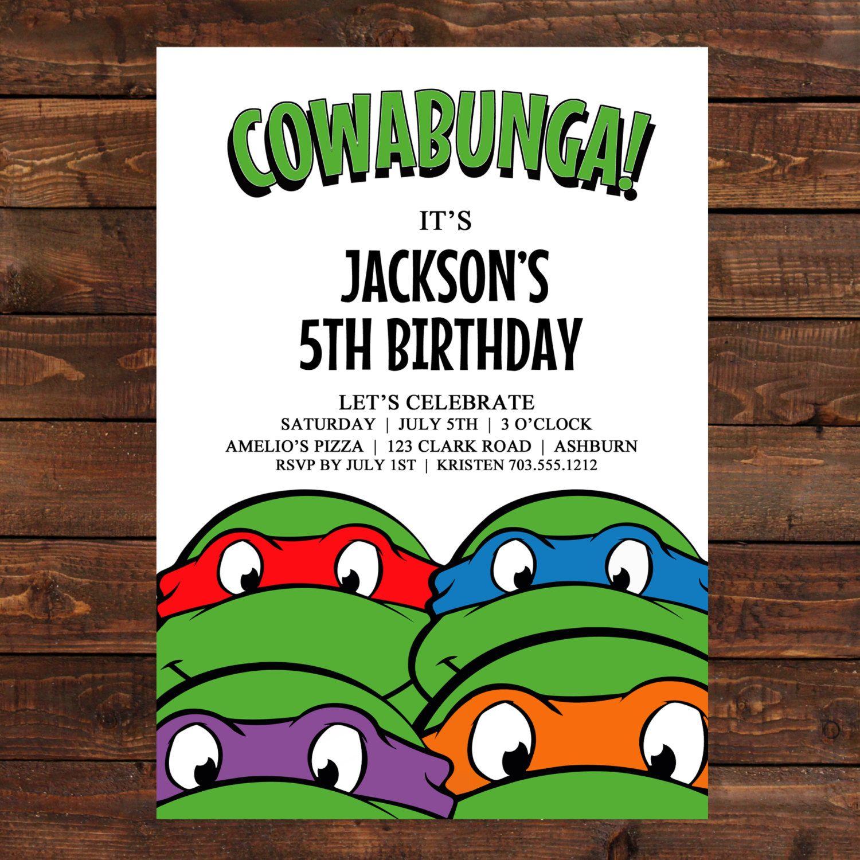 Teenage Mutant Ninja Turtles Birthday Party Invitations | Dolanpedia - Free Printable Tmnt Birthday Party Invitations
