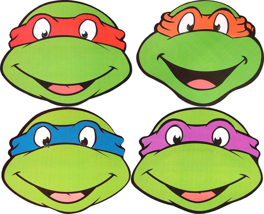 Teenage Mutant Ninja Turtles Black And White Clipart - Clipart Kid - Teenage Mutant Ninja Turtles Free Printable Mask