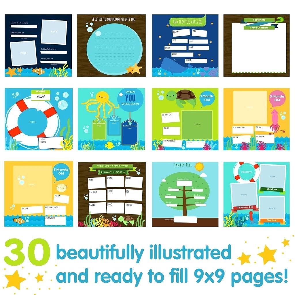 Template Baby Memory Book Free Printable Diy Boy Journal Album Girl - Free Printable Baby Memory Book