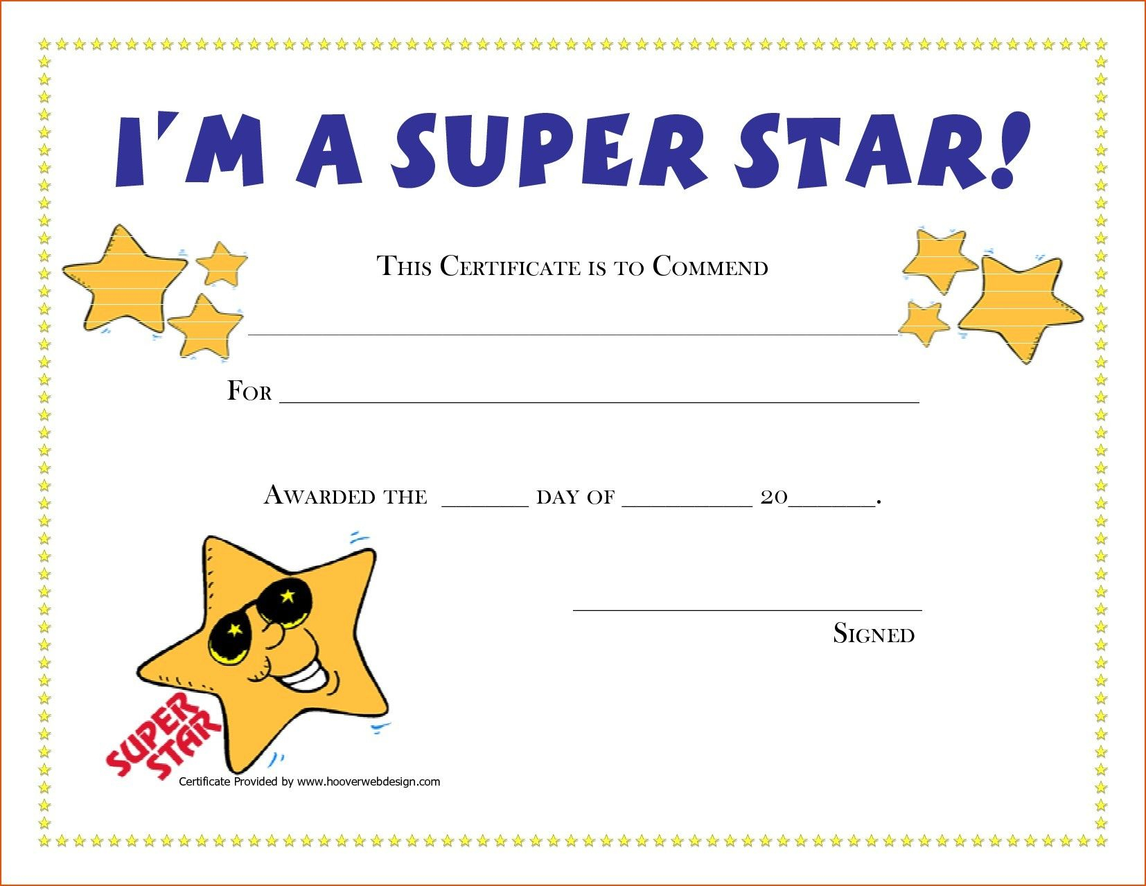 Template Certificate Blank Fresh Template Blank Award Certificate - Free Printable Swimming Certificates For Kids