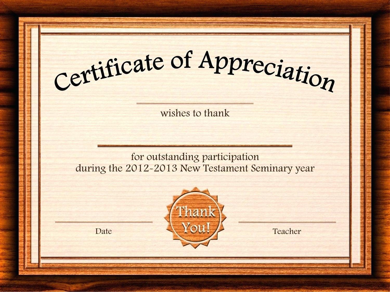 Template: Editable Certificate Of Appreciation Template Free - Free Customizable Printable Certificates Of Achievement