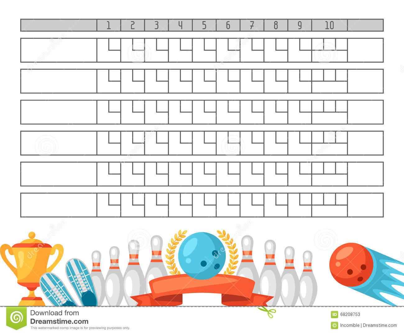 Template: Free Printables Bowling Score Sheet. Bowling Score Sheet - Free Printable Bowling Score Sheets