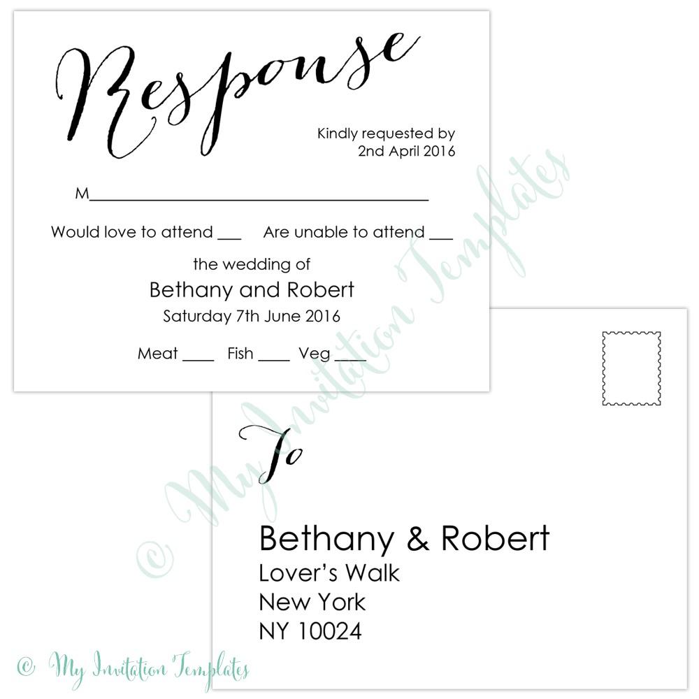 Template Rsvp Cards Free - Epp-Acp - Free Printable Rsvp Cards