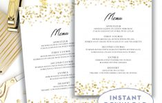 Template: Wedding Menu Template – Free Printable Wedding Menu Card Templates