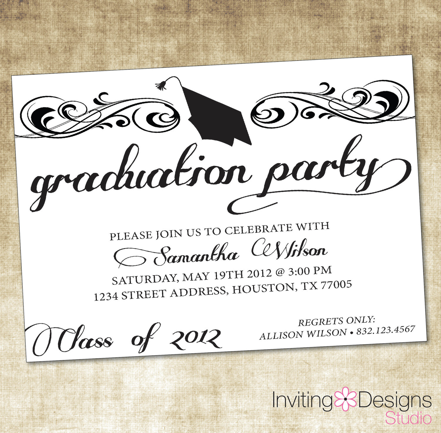 Templates Archives - Hashtag Bg - Free Printable Graduation Dinner Invitations