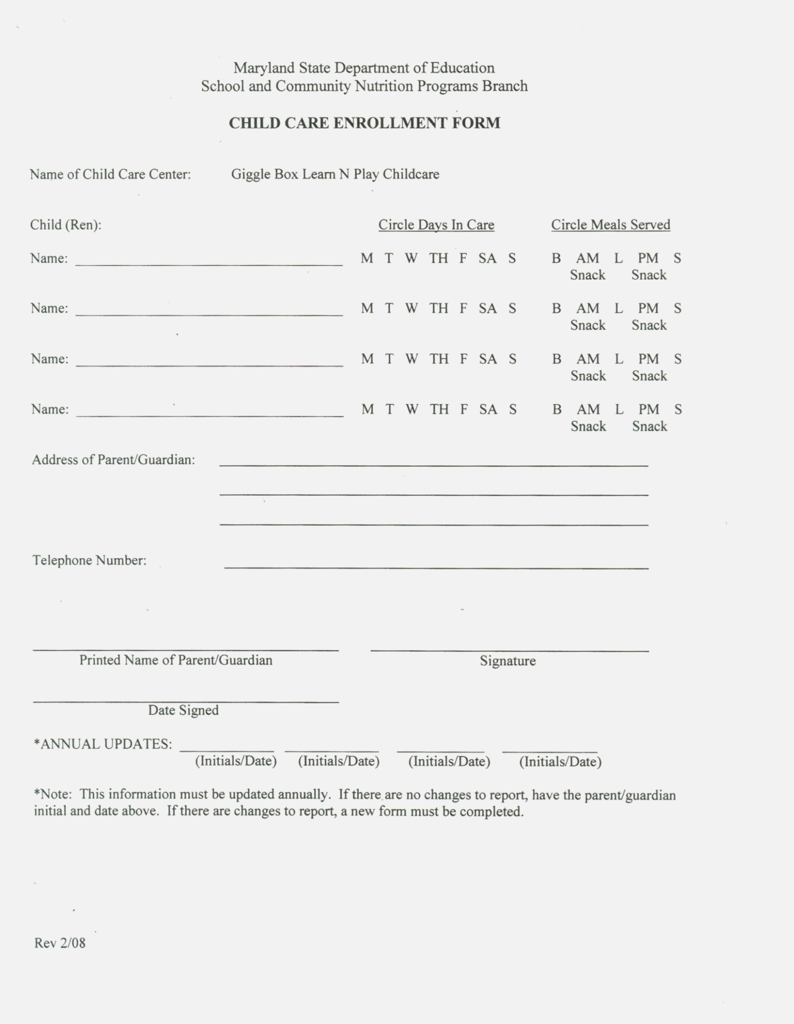 Ten Moments That Basically | Invoice And Resume Template Ideas - Free Printable Daycare Forms