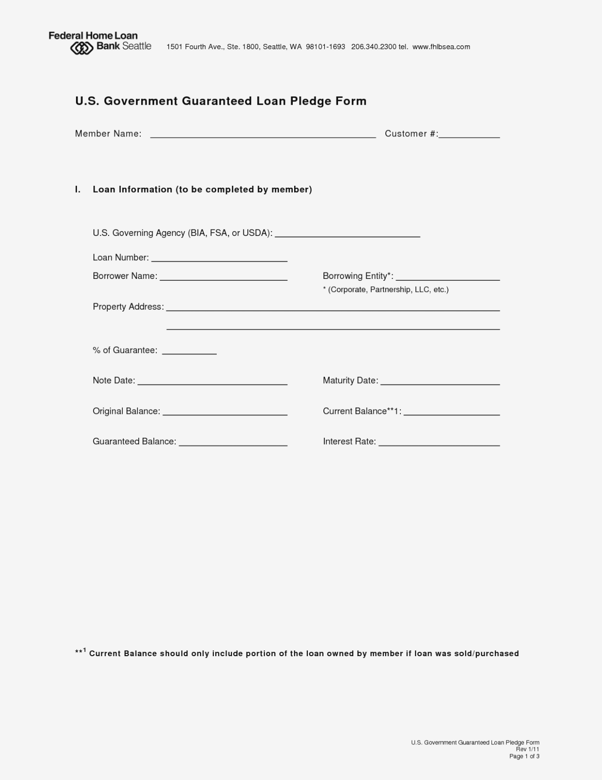 Ten Reasons Why People Love Free Printable | Form Information - Free Printable Personal Loan Forms