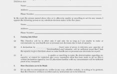 Ten Things You Won't Miss | Invoice And Resume Template Ideas – Free Printable Advance Directive Form