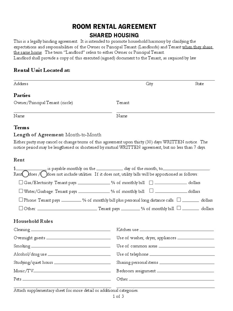 Tenancy Agreement Form 6 Free Templates In Pdf Word Excel Download - Free Printable Room Rental Agreement Forms