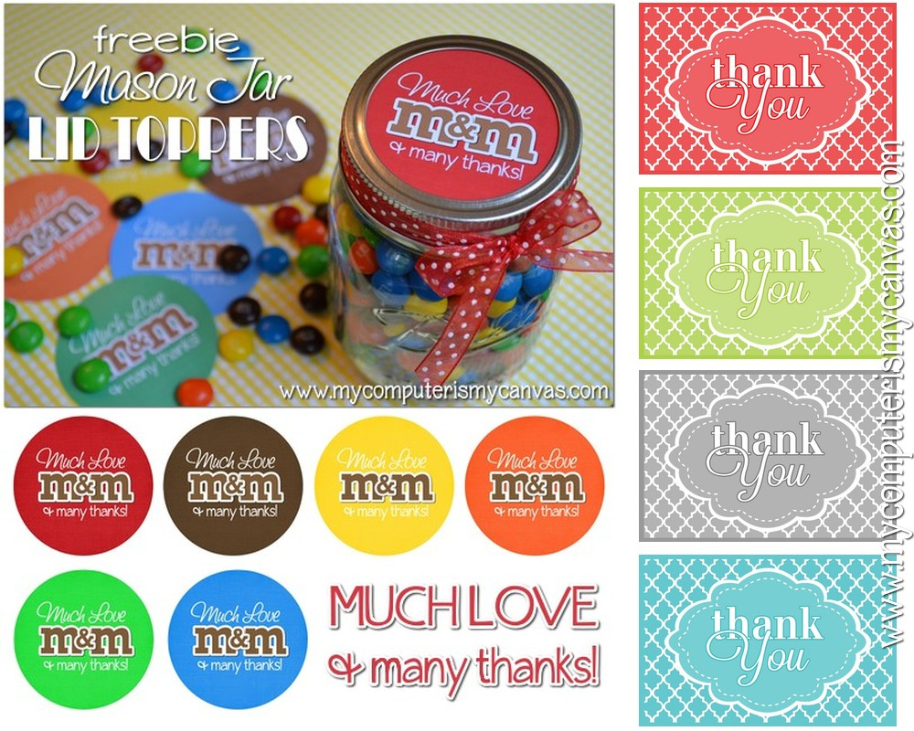 Thank You Candy Tags - Eighteen25 - Free Printable Lifesaver Tags