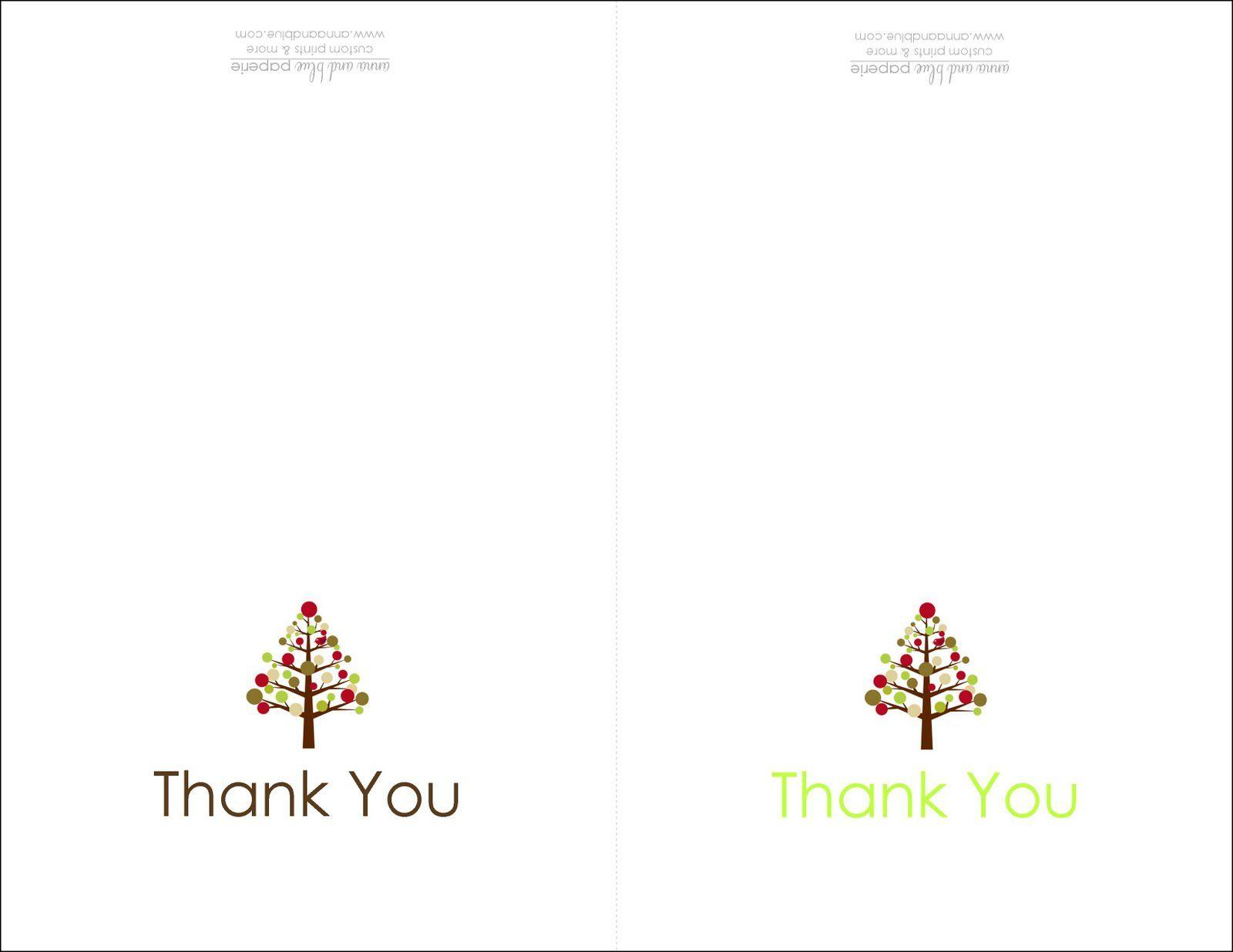 Thank You Cards Printable | Printable - Free Printable Custom Thank You Cards