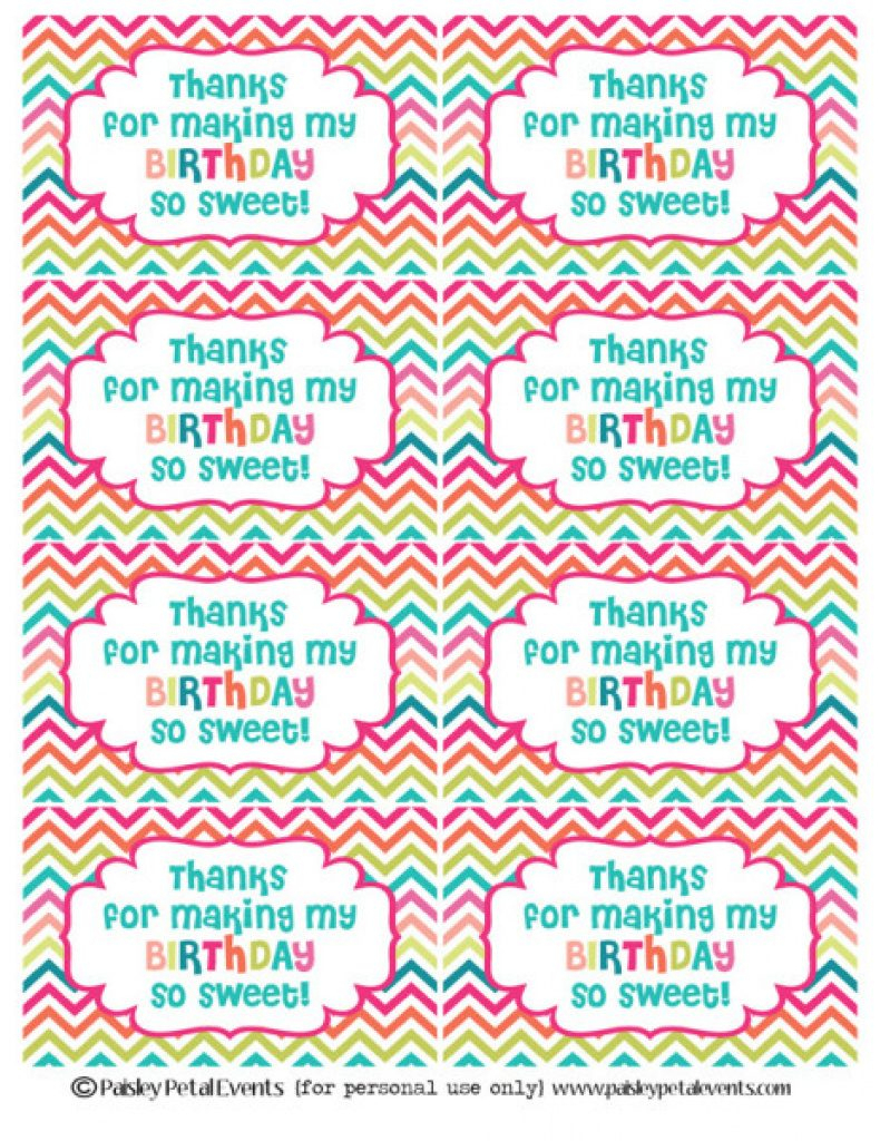 Thank You For Coming Free Printable Tags | Free Printable - Thank You For Coming Free Printable Tags