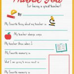 Thank You Teacher   A Free Printable | Stay At Home Mum | Teacher   All About My Teacher Free Printable