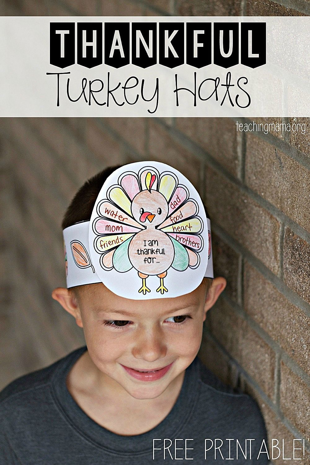 Thankful Turkey Hats | Kidscare Printables & Craft Ideas | Pinterest - Free Printable Thanksgiving Hats