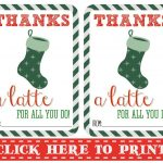 Thanks A Latte Free Printable | Gift Cards | Pinterest | Thanks A   Thanks A Latte Free Printable