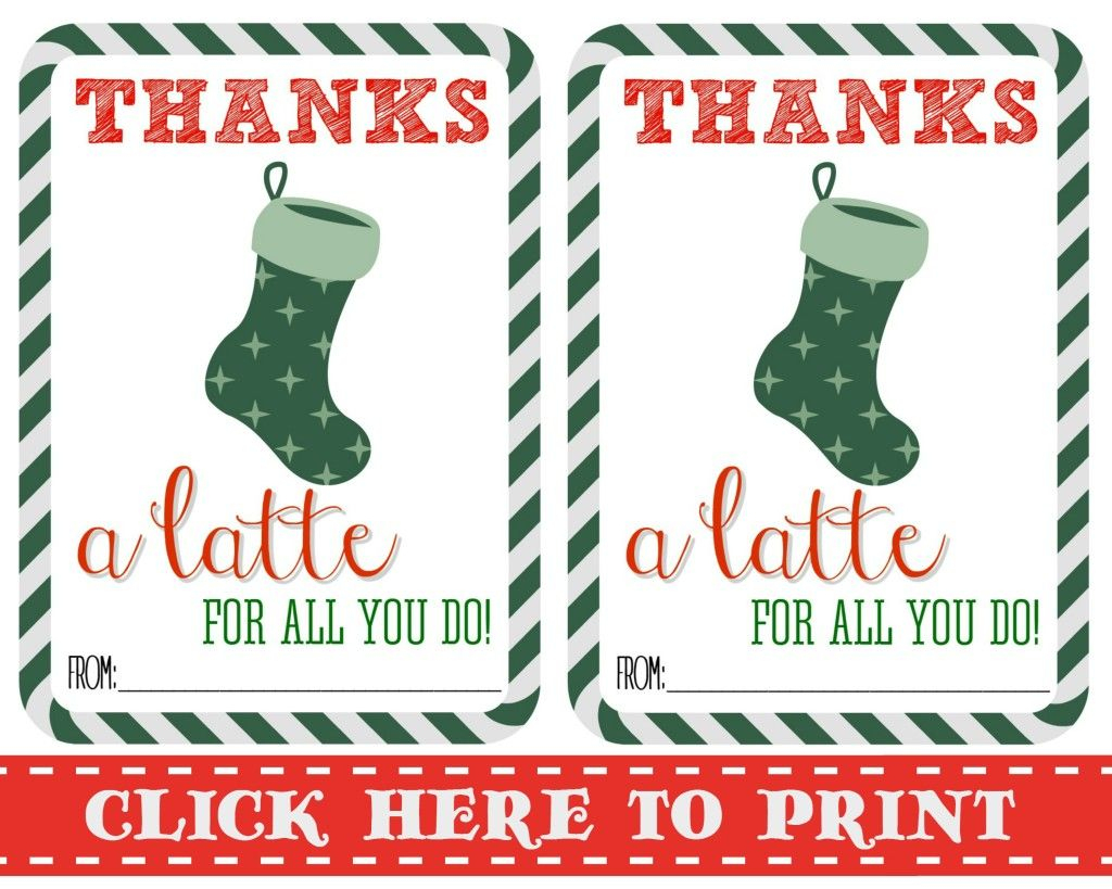 Thanks A Latte Free Printable | Gift Cards | Pinterest | Thanks A - Thanks A Latte Free Printable