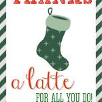 Thanks A Latte Free Printable   Thanks A Latte Free Printable