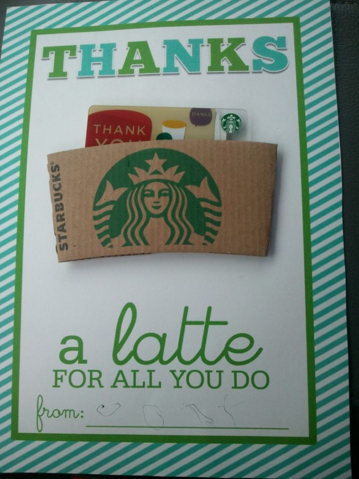 Thanks A Latte Free Printable Tag
