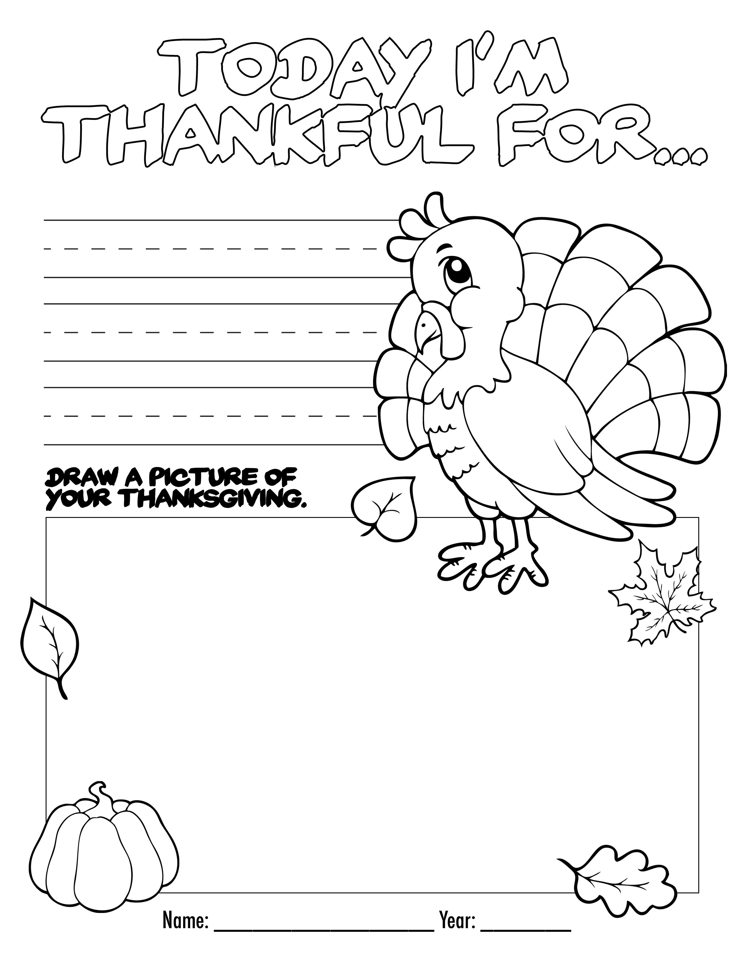 Thanksgiving Coloring Book Free Printable For The Kids - Free Printable Thanksgiving Activities