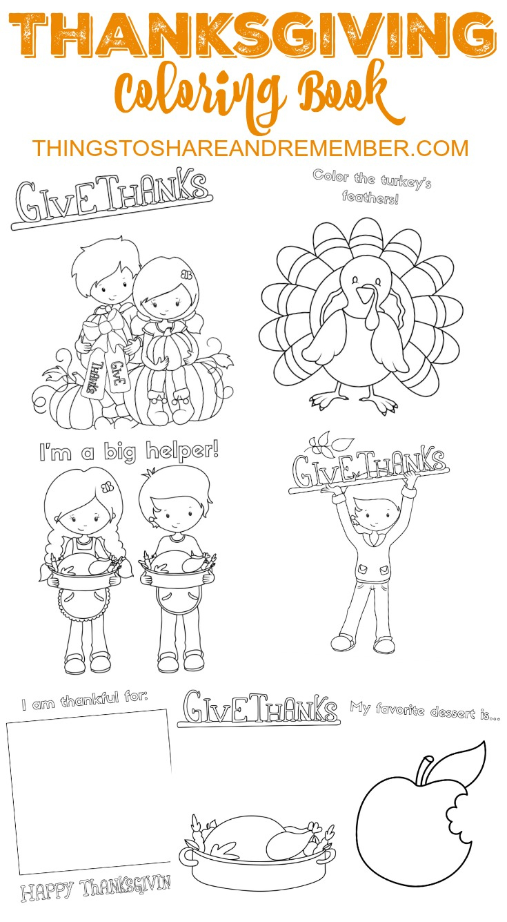 Thanksgiving Coloring Books 7 #9179 - Thanksgiving Printable Books Free