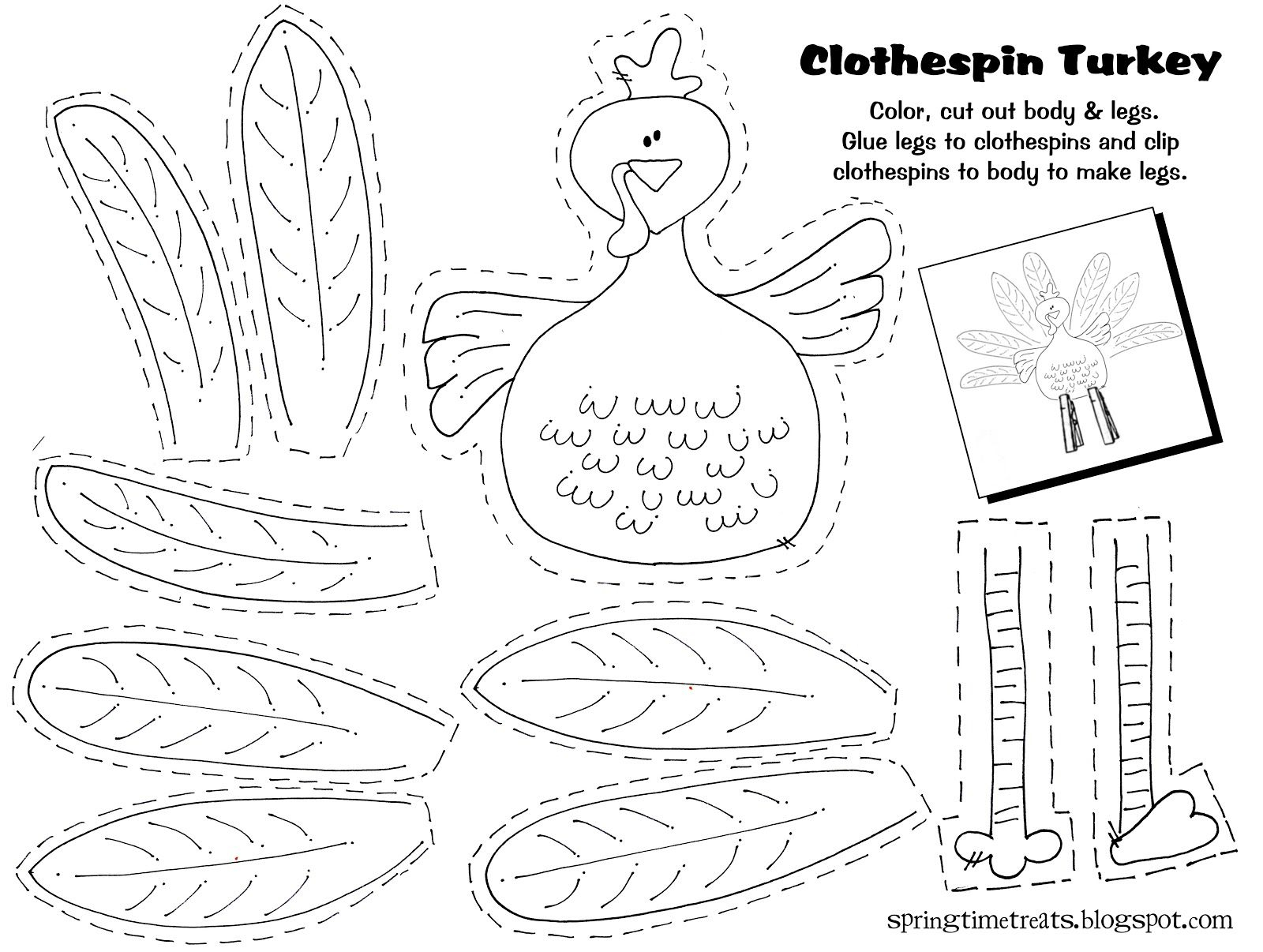 Thanksgiving Craft Ideas Printable - 13.11.kaartenstemp.nl • - Free Printable Thanksgiving Activities For Preschoolers