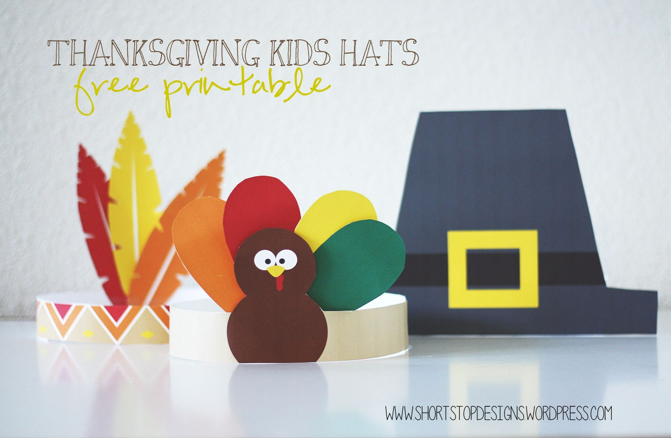 Thanksgiving Kids Hats – Free Printables – Short Stop Designs - Free Printable Thanksgiving Hats