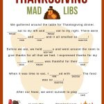 Thanksgiving Mad Libs | Girl Scouts | Pinterest | Thanksgiving Mad   Free Printable Thanksgiving Mad Libs