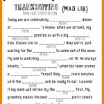 Thanksgiving Mad Libs Printable   My Sister's Suitcase   Packed With   Free Printable Thanksgiving Mad Libs