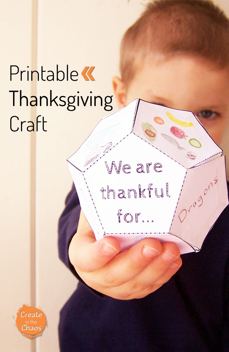 Thanksgiving Printable - Create In The Chaos - Free Printable Turkey Craft