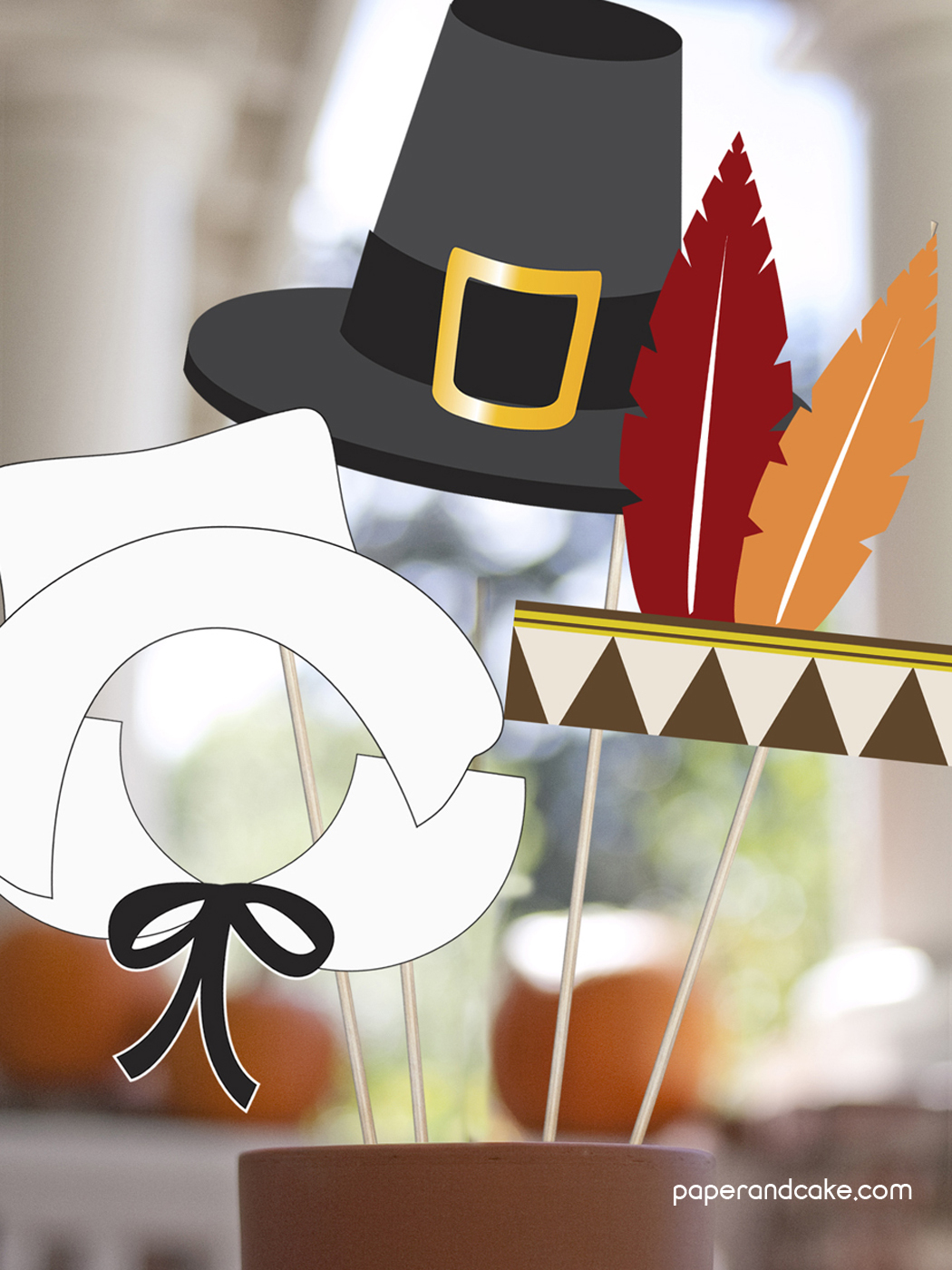 Thanksgiving Printable Photo Booth Props - Paper And Cake Paper And Cake - Free Printable Thanksgiving Photo Props