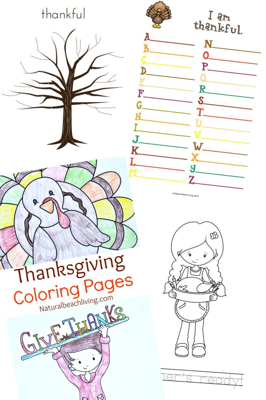 Thanksgiving Printables For Kids - Natural Beach Living - Free Printable Thanksgiving Activities For Preschoolers