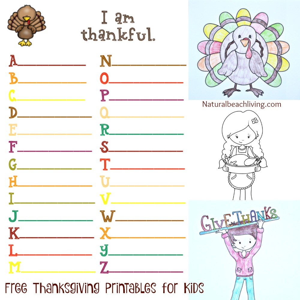 Thanksgiving Printables For Kids - Natural Beach Living - Thanksgiving Games Printable Free