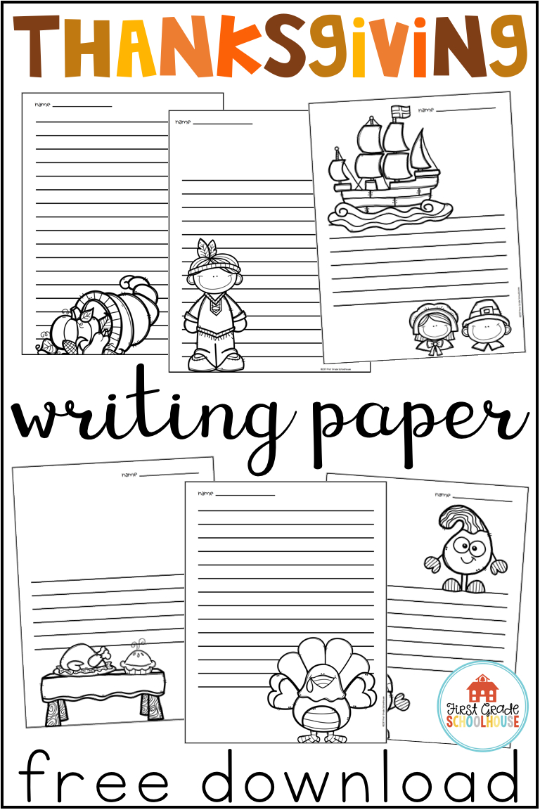 Thanksgiving Writing Paper | Second Grade Free Stuff - Free Printable Thanksgiving Writing Paper