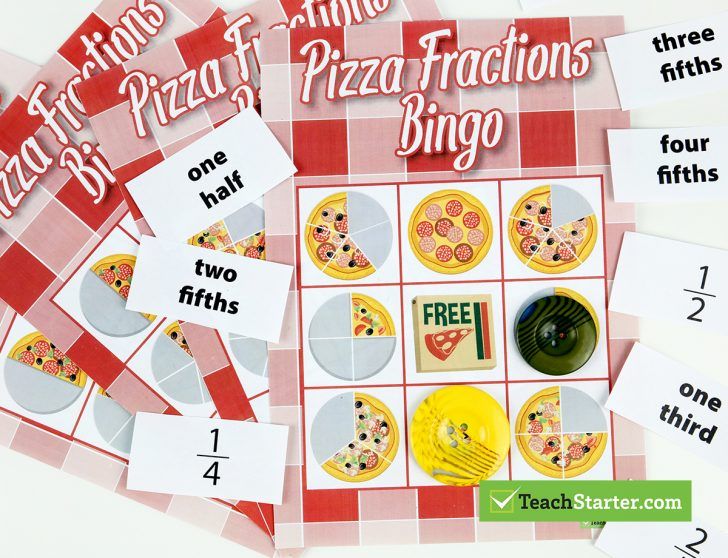 Fraction Bingo Cards Printable Free