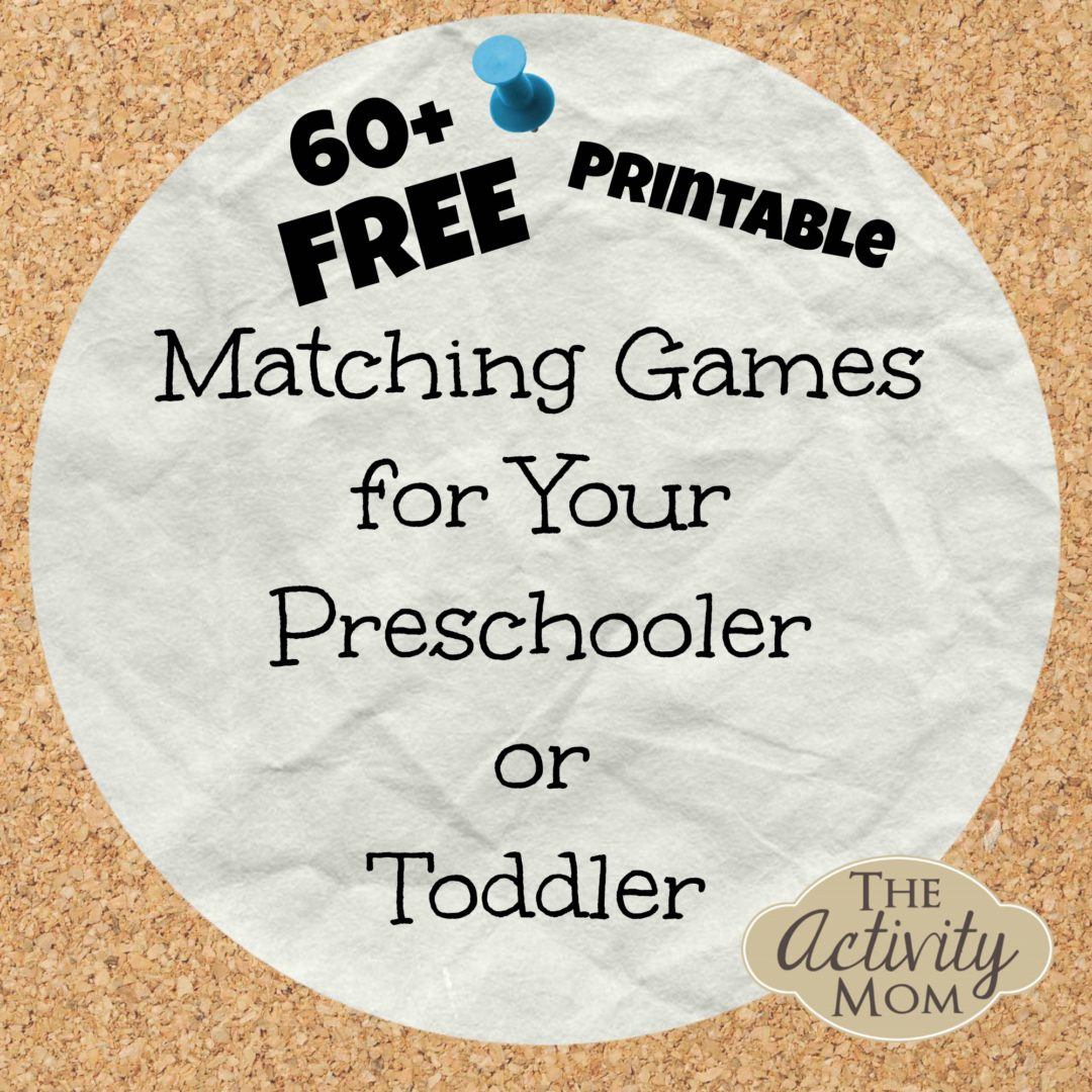 The Activity Mom - Free Printable Matching Games - Free Printable Toddler Matching Games