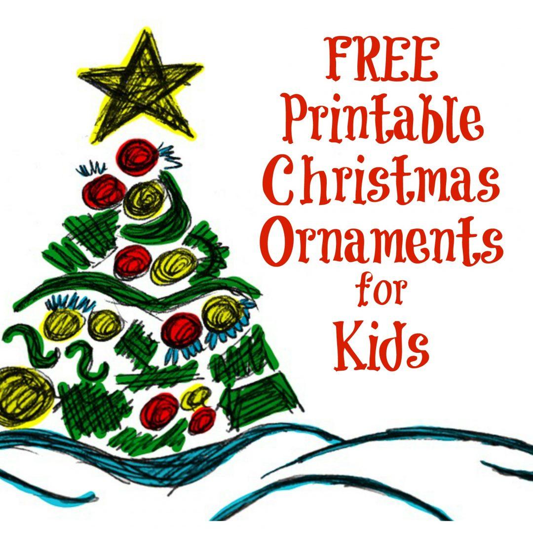 The Activity Mom - Printable Christmas Ornaments For Kids - The - Free Printable Christmas Ornaments
